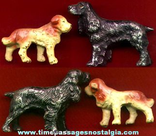 (2) Old Painted Metal Dog Figures