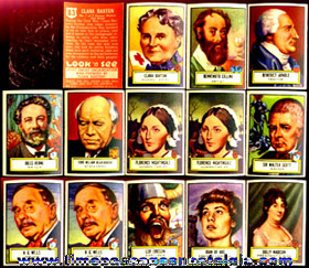 (14) 1952 Topps Gum Look 'n See Trading Cards With Red Cellophane Viewer