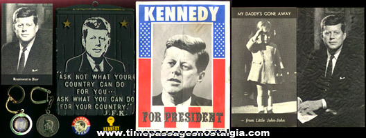 (9) Old President John F. Kennedy Items