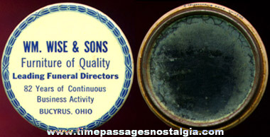 Old Advertising Premium Pocket Mirror