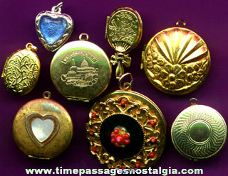 (8) Different Photo Locket Charms / Pendants