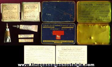 Old Tabloid Brand First Aid Kit