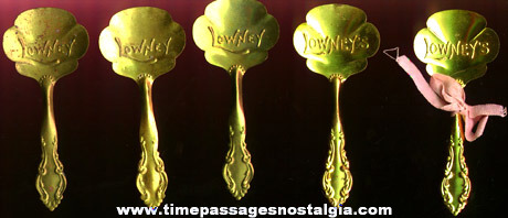 (5) Early Lowney's Candy Metal Advertising Serving Spoons