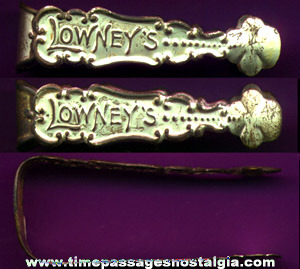 Early Lowney's Candy Advertising Serving Tongs