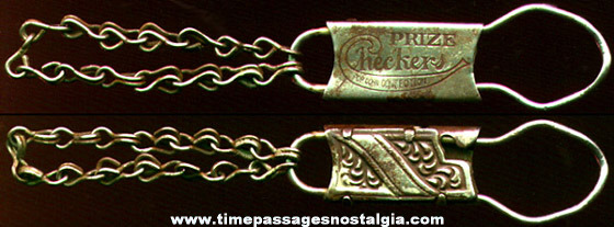 Early 1900's Checkers Popcorn Confection Advertising Premium Key Chain