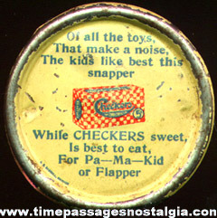 Early Checkers Popcorn Confection Advertising Premium Clicker