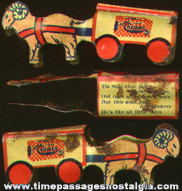 Early Checkers Popcorn Confection Advertising Goat Wagon Prize