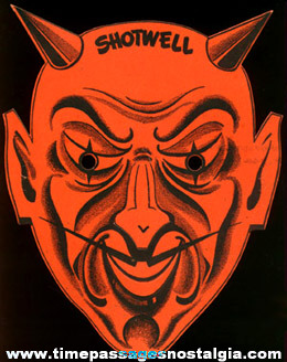 Old Shotwell Confections Advertising Premium Devil Halloween Mask