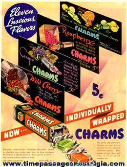 (4) Old Charms Candy Advertising Items