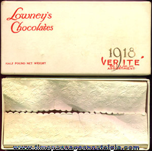 (2) Different Old Lowney's Chocolates Candy Boxes
