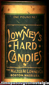 Full Old 1 lb. Can Of Lowney's Hard Candies