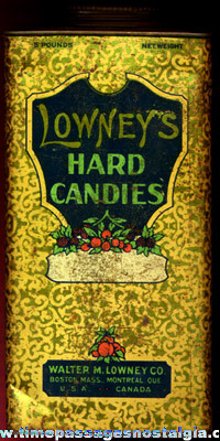 (2) Different Old Lowney's Candy Tins