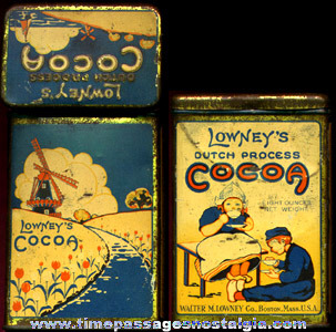 Old Lowney's Cocoa Advertising Tin