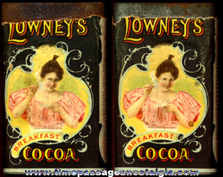 Old Lowney's Breakfast Cocoa Advertising Tin