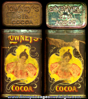 Old Lowney's Cocoa 1/5 Pound Advertising Tin
