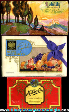 (3) Different Old Candy Advertising Boxes