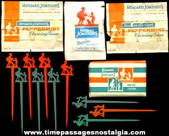 (16) Old Howard Johnson Restaurant Advertising items