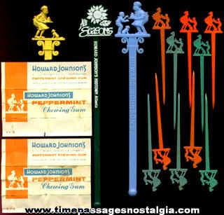 (17) Old Howard Johnson Restaurant Advertising items