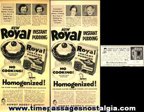(11) Old Howdy Doody Magazine Advertisements