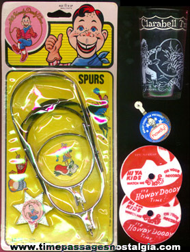 (5) Old Howdy Doody Character Items