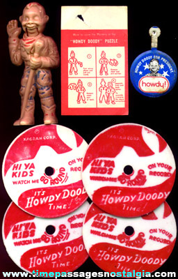 (7) Old Howdy Doody Character Items