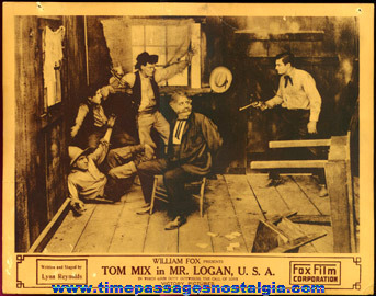 (3) 1918 Tom Mix Western Movie Lobby Card Posters