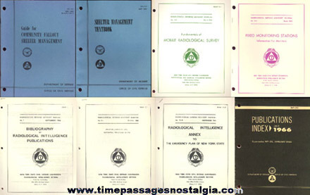 (8) Different Old Civil Defense Paper Items