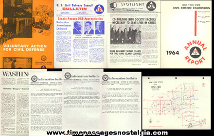 (9) Different Old Civil Defense Paper Items