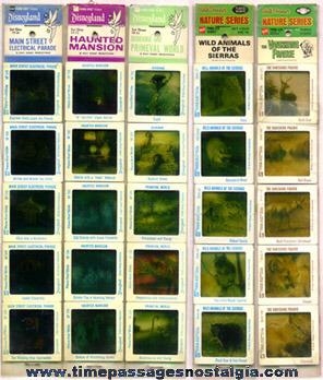 (5) Old Unopened Sets Of Disney Color Photo Slides