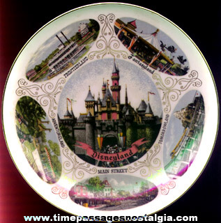 Colorful Old Disneyland Souvenir Plate