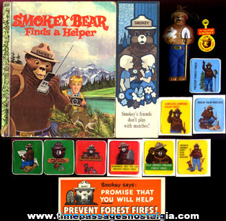 (14) Different Smokey Bear Character Items