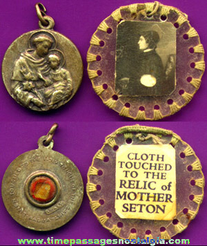 (4) Old Catholic Religious Relic Items