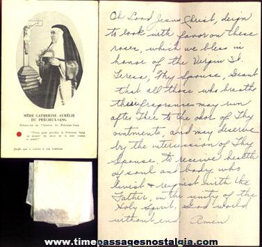 (4) Old Catholic Religious Relic Items