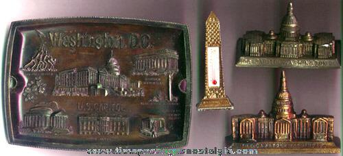 (4) Old Washington, D.C. Metal Souvenir Items