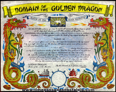 (2) Ornate Navy Certificates