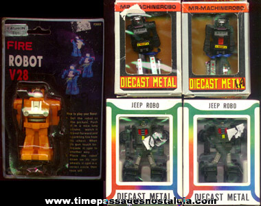 (5) Small Packaged Robot Toys