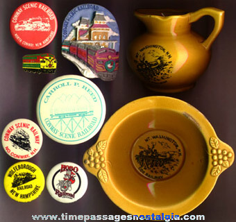 (9) Different New Hampshire Railroad Souvenir Items