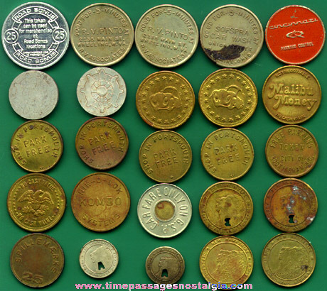 (25) Old Auto Related Tokens