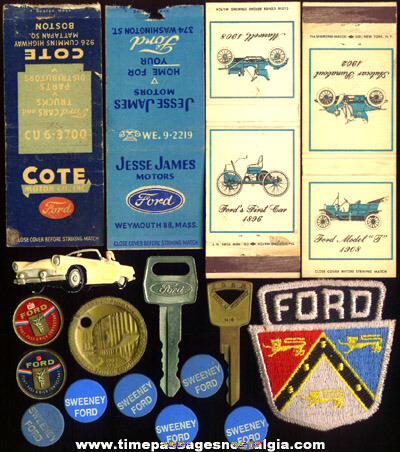 (20) Small Old Ford Related Items