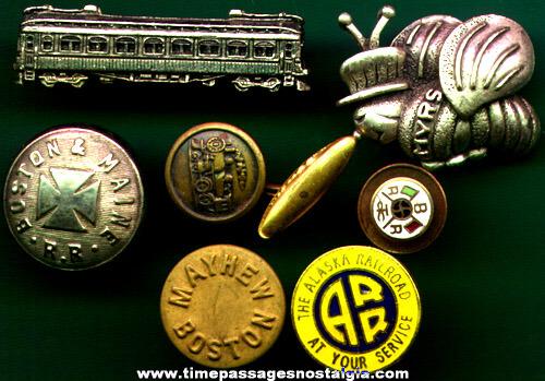 (7) Small Railroad / Train Related Items
