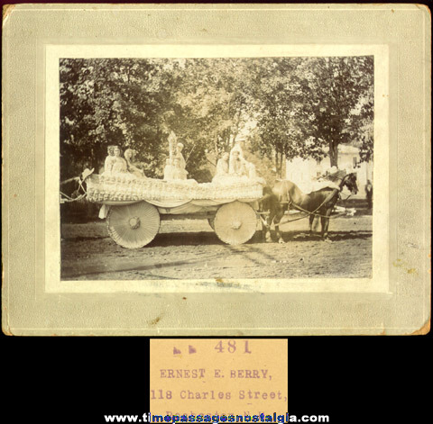 Old Mounted Parade Float Photograph