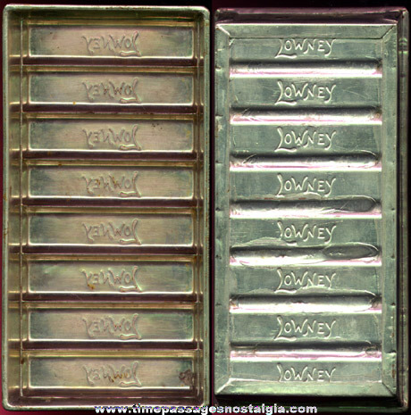 Original Old Embossed Metal Lowney's Chocolate Candy Bar Mold