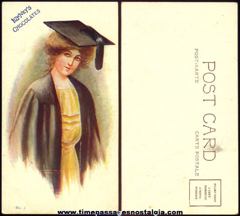 (2) Old Unused Lowneys Advertising Premium Post Cards