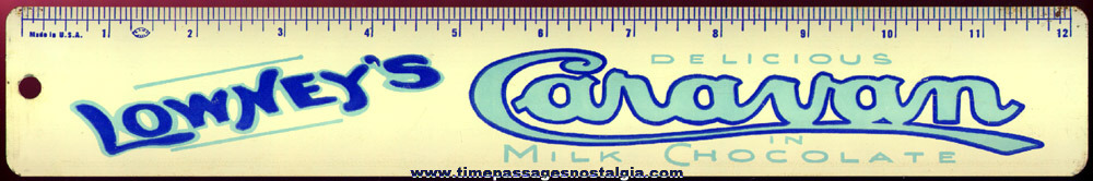(4) Old Lowneys Candy Advertising Premium Tin Rulers