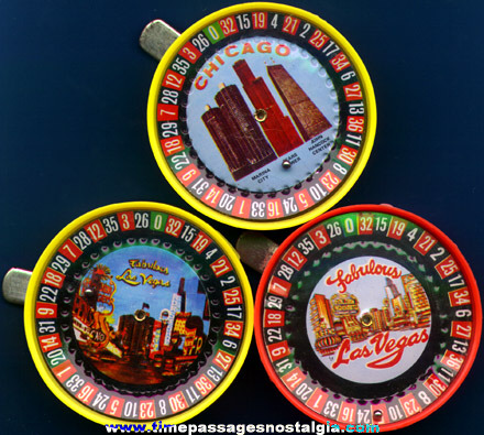 (3) Small Roulette Wheel Souvenir Games