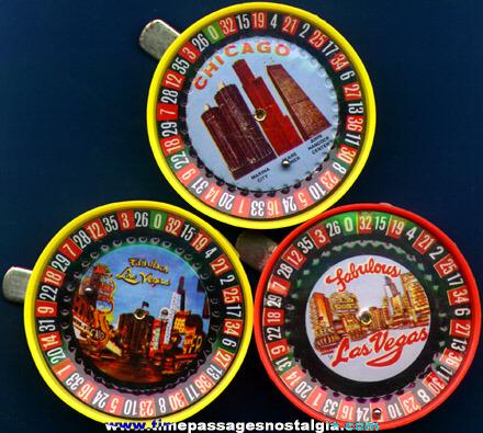 (3) Small Roulette Wheel Souvenir Games