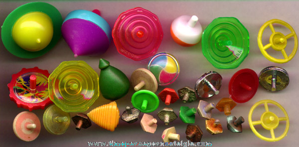 (32) Small Spinning Toy Tops