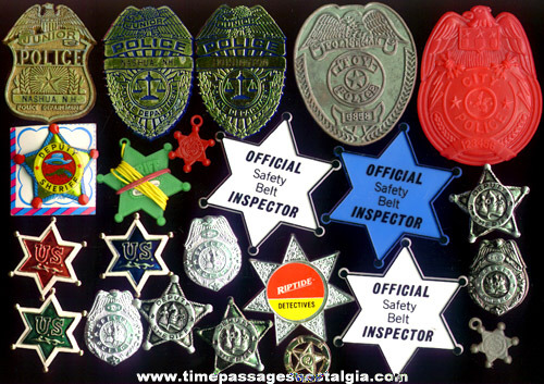 (23) Police Toy Badges