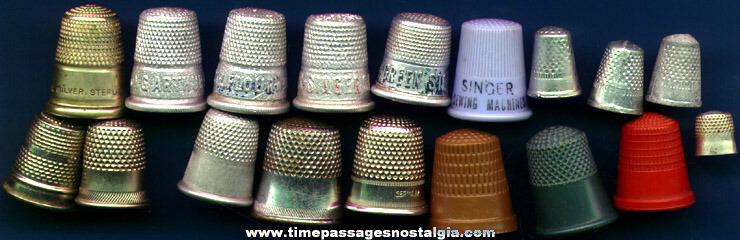 (18) Old Sewing Thimbles