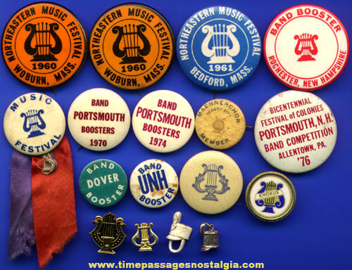 (17) Old School Band Buttons & Pins